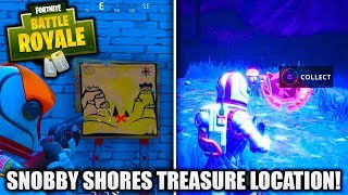 *NEW* SNOBBY SHORES TREASURE MAP LOCATION! [FORTNITE BATTLE ROYALE BATTLE PASS WEEK 3 CHALLENGES]