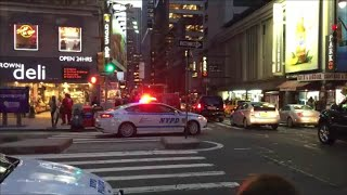NYPD Ford Fusion Responding On West 52nd Street In Midtown Manhattan