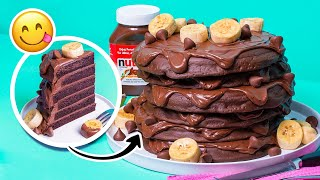 Nutella Pancakes CAKE | Chocolate, hazelnut, Hershey kisses | How To Cake It with Yolanda Gampp