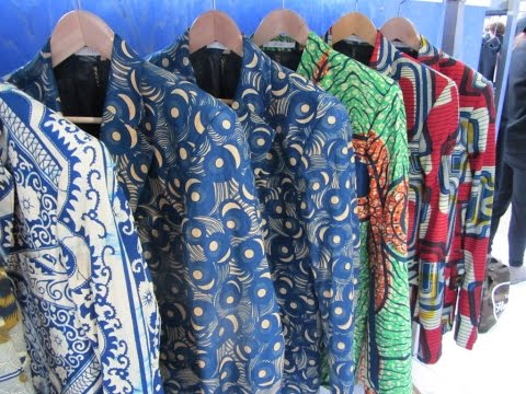 Traditional African Prints Blend With European Design