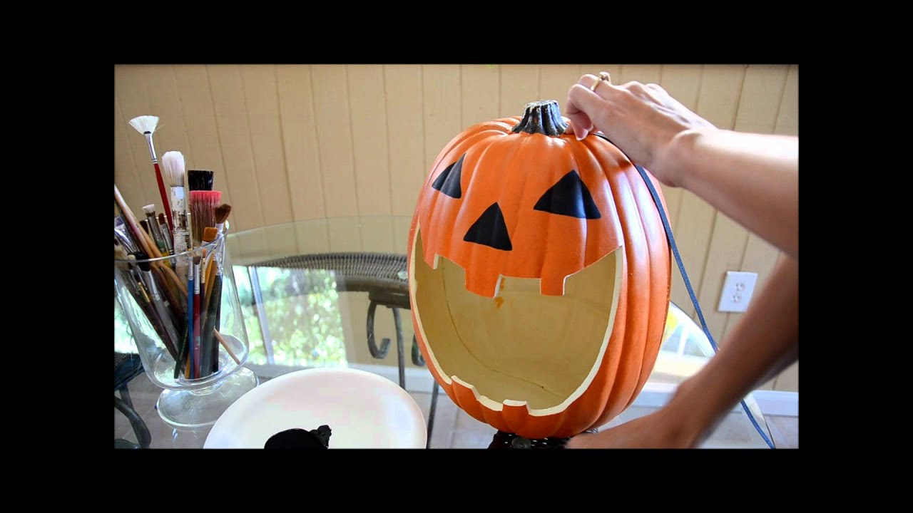 How to carve a foam pumpkin youtube