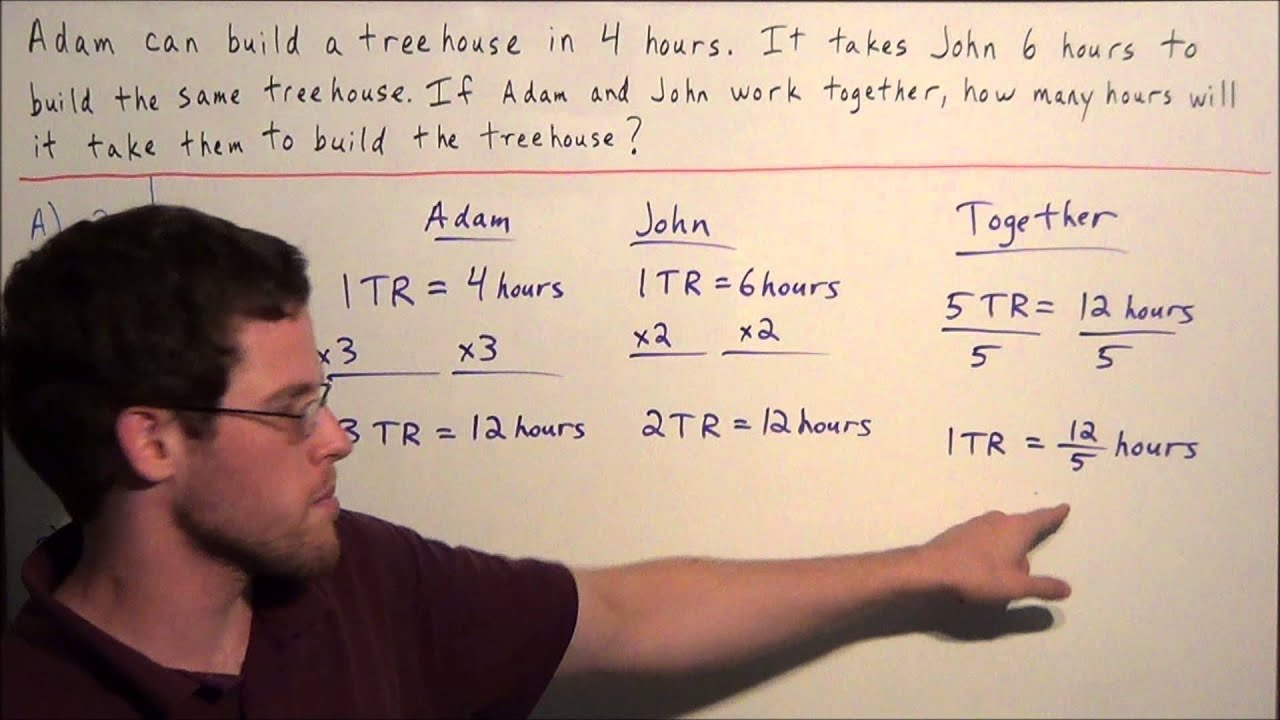 Work Word Problem - SAT Math - YouTube