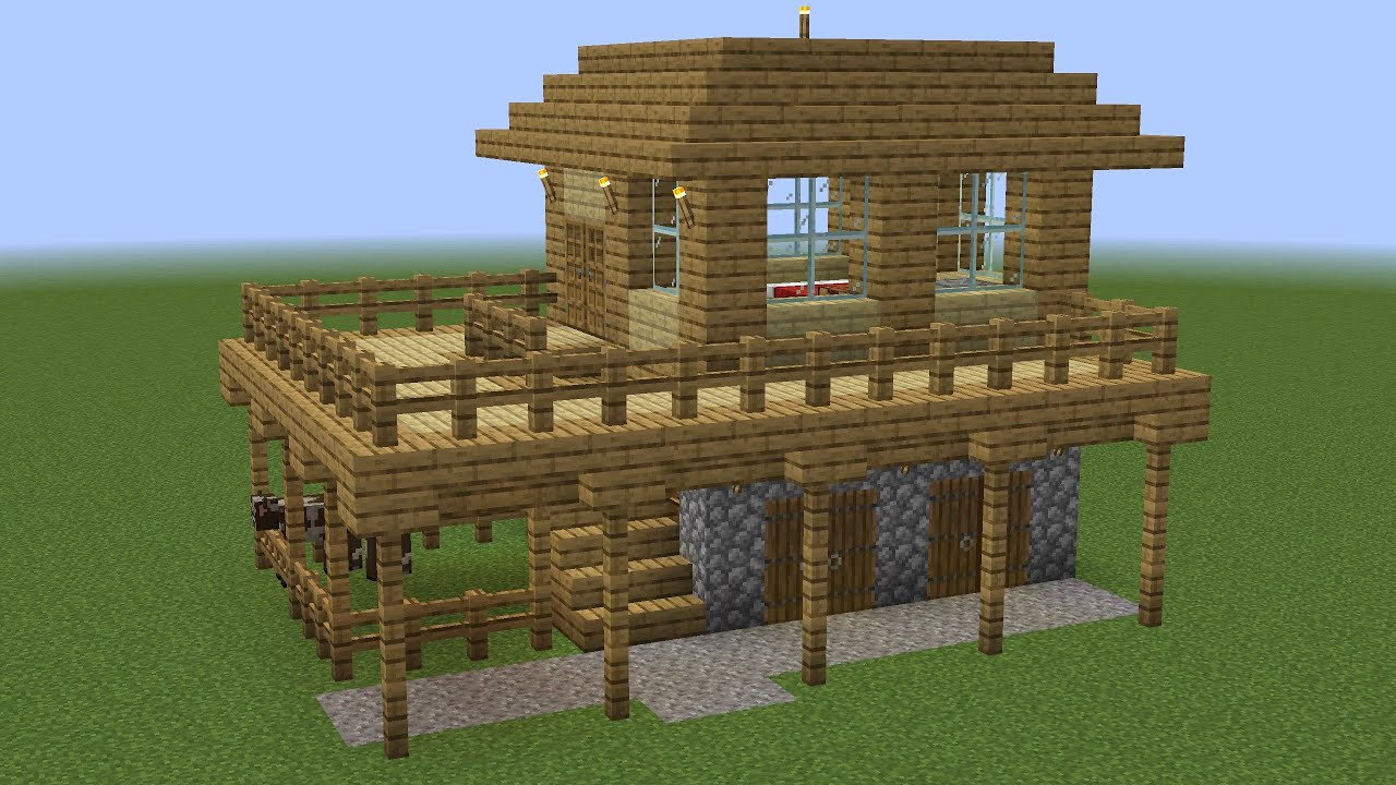 Minecraft - How to build a beginner survival house (easy)