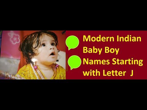 Modern Indian Baby Boy Names Starting with Letter J