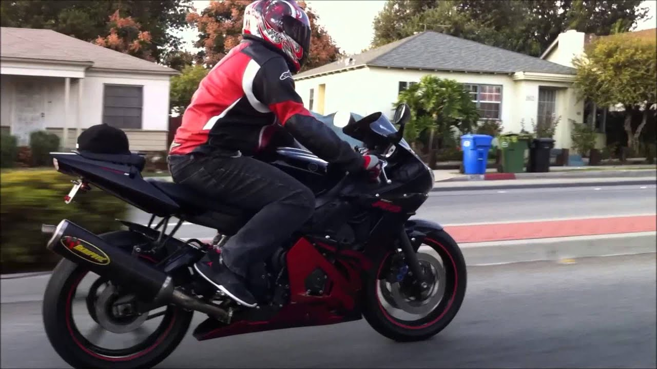 I Spy 2003 Yamaha YZF R6 Special Edition W Red Flames Street Ride Car Vs Sport Bike