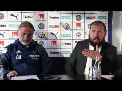 Presskonferens med Alexander Axén och Özcan Melkemichel