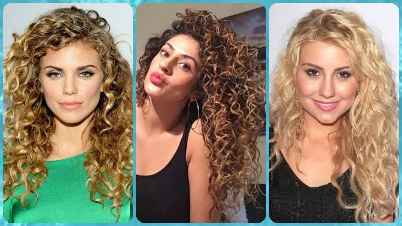 Modelli di permanente riccia capelli lunghi - YouTube