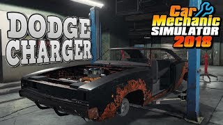 Beginning Dodge Charger Junkyard Rebuild! - Car Mechanic Simulator 2018 Gameplay