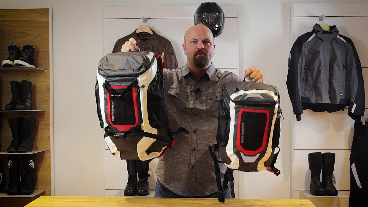 bmw motorrad apparel function backpacks youtube. Black Bedroom Furniture Sets. Home Design Ideas