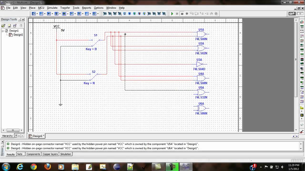 Logic Gates Testing Using Multisimmp4 Youtube Are The Basis Of All Circuits Inputs And Outputs