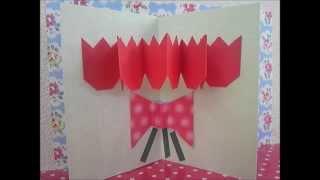 かんたんに作れるポップアップカード37 「チューリップの花束」 です...