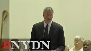 Mayor de Blasio Remarks at Officer Brian Moore's Funeral (FULL VIDEO)
