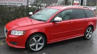 WV60ZJE USED VOLVO V50 T5 R DESIGN ESTATE  in RED at Wessex Garages, Pennywell Road, Bristol