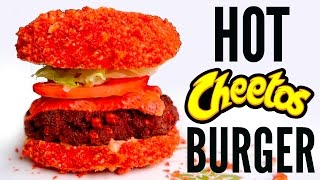 FLAMIN' HOT CHEETOS BURGER DIY | How To