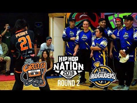 Groovy Gang vs Midnight Marauders | ROUND 2 | HIP HOP NATION 2018
