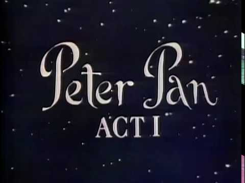 Mary Martin As Peter Pan Original 1955 Telecast The Historic 1956 And Color TV 1960