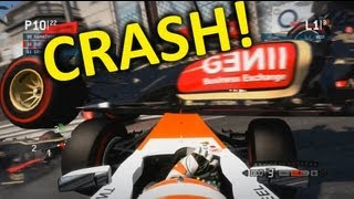 F1 2013 Crash Monaco RED FLAG!