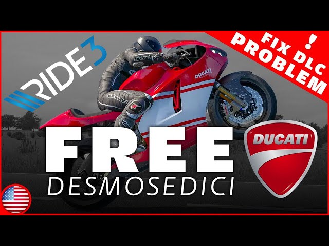 Ride 3 - Free Ducati Desmosedici RR | Download DLC Install Fix on PC | (+Honda Cbr 600 f4)