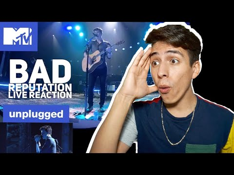 Shawn Mendes- Bad Reputation (MTV Unplugged)| E2 Reacts