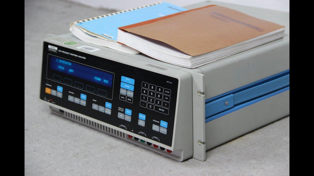 Frequency Response Analyzer : Solartron schlumberger frequency response analyzer