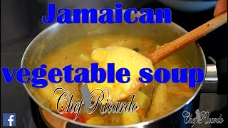 Jamaican vegetable soup !!