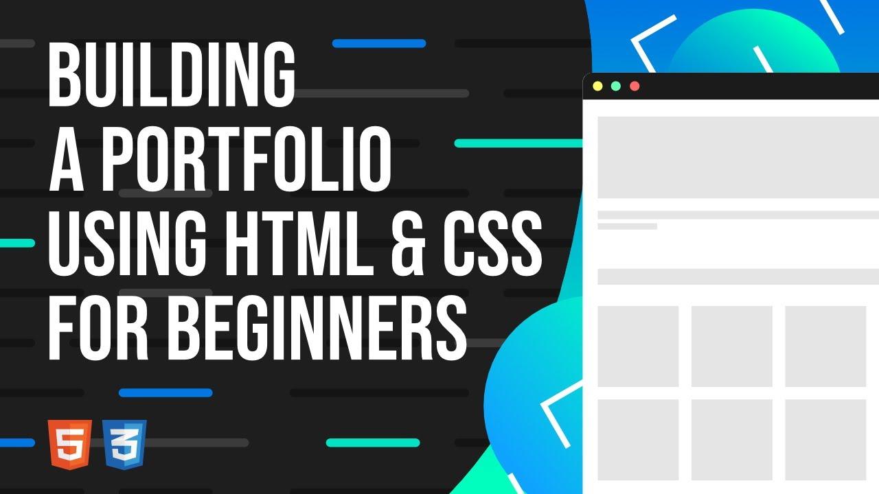 Building a Portfolio using HTML, CSS, JS for Beginners Tutorial