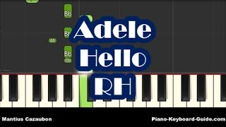 Adele Hello Easy Piano Tutorial Right Hand How To Play Notes - mp3 مزماركو تحميل اغانى