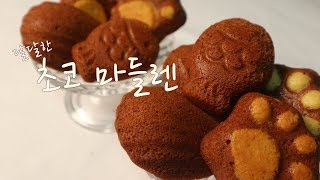 달달하고 바삭한 초코 마들렌 만들기(홈베이킹)/How …