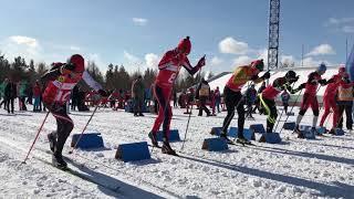"""Классический спринт. Финал первенства """"На лыжи!"""" в Братске"""