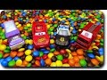 Disney Cars Pixar Lightning McQueen M&M's Ball Pit Surprise Cars Toys Hide & Seek with Police cars