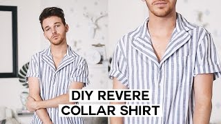DIY Summer Button Down / Revere Collar Upcycle