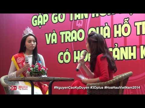 Hoa hậu 18 tuổi Nguyễn Cao Kỳ Duyên nói tiếng Pháp, hồn nhiên chia sẻ bí quyết giảm 14kg/3 tháng