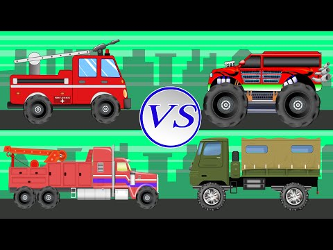 Big Trucks | Vehicles For Children | Truck Battles