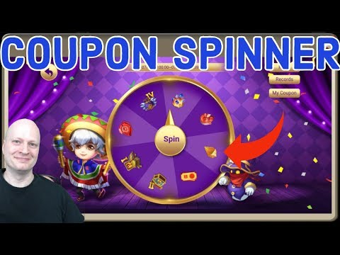 COUPON SPINNER CASTLE CLASH