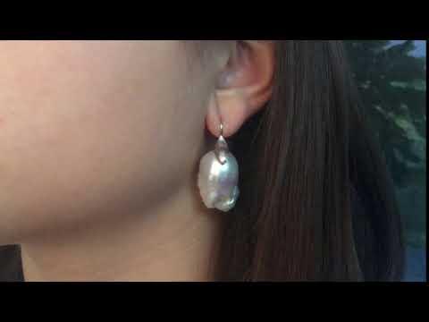 Custom-Designed Baroque Pearl Earring by Award-Winning Jewelry Designer Cynthia Renee