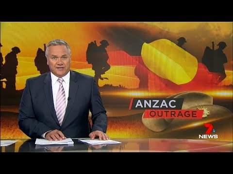 Seven + Nine News. Anzac Day Aboriginal Debate.