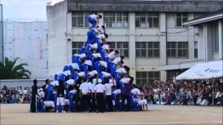 【衝撃動画】組体操10段ピラミッド崩壊事故