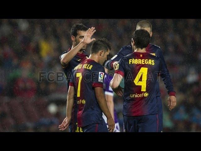 FC Barcelona vs Real Valladolid  2-1 I All Goals & Highlights 19.05.2013