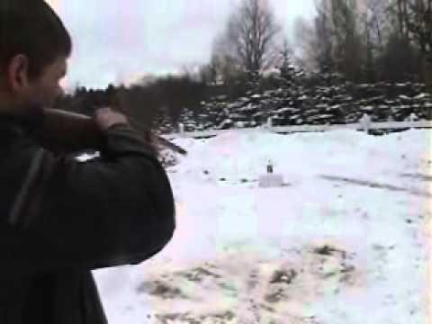 12 Gauge Shotgun Shoots a .357 Caliber Bullet.wmv