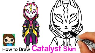 How to Draw Fortnite Catalyst Skin