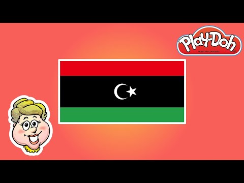 Play-Doh Flags! Updated Flag of Libya! EWMJ #485