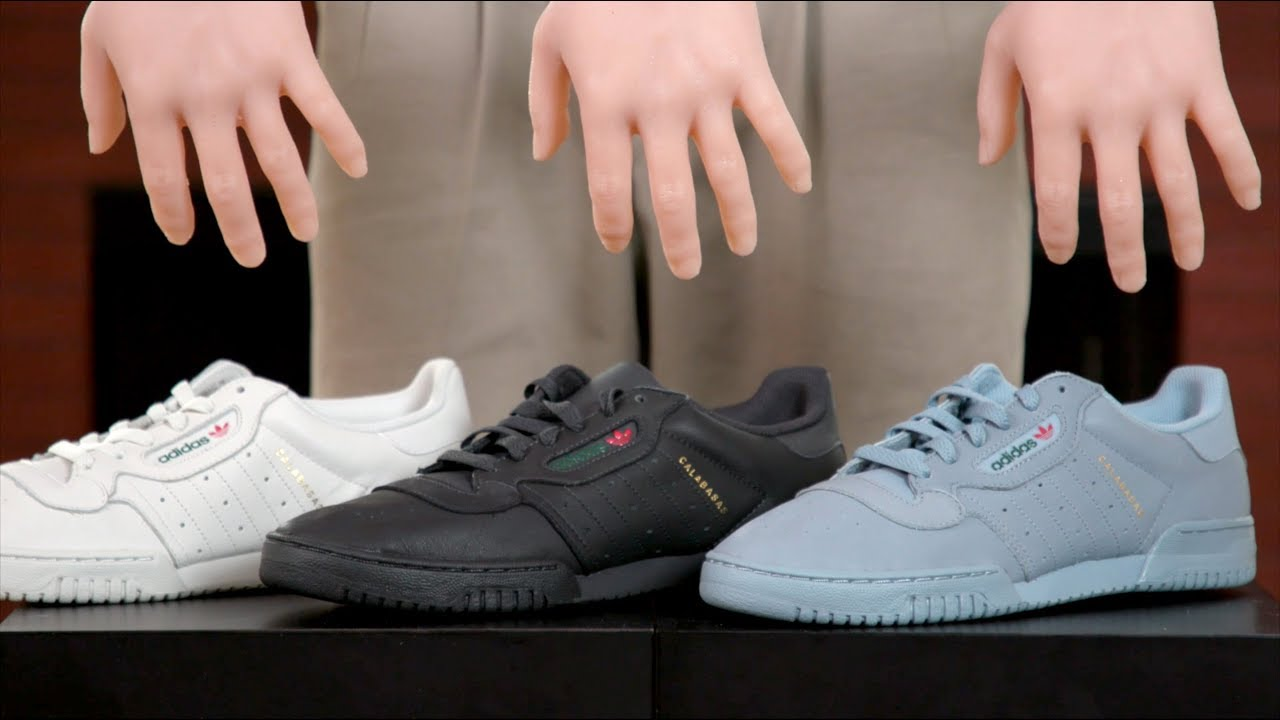 cd3df6a53 Yeezy Powerphase Black vs. Grey vs. White - YouTube