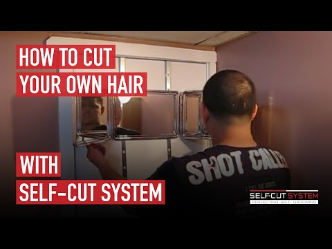self cut system haircutting mirror how to cut your own hair with the self cut system 3091