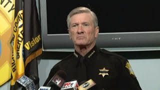 RAW VIDEO: Sheriff says gang crossfire killed innocent victim taking out his trash