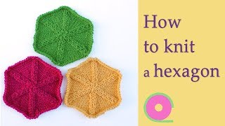 How to knit a hexągon - Knitting tutorial