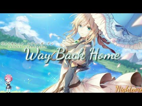 『Nightcore』 - Way Back Home ❲Female Version❳ - ❲Lyrics❳