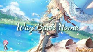 ❴Nightcore❵ - Way Back Home ❲Female Version❳ - ❲Lyrics❳