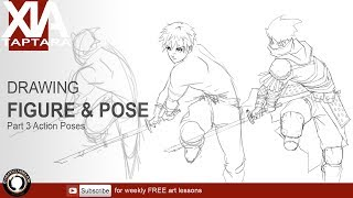 Drawing figure and pose part 3 Action Poses