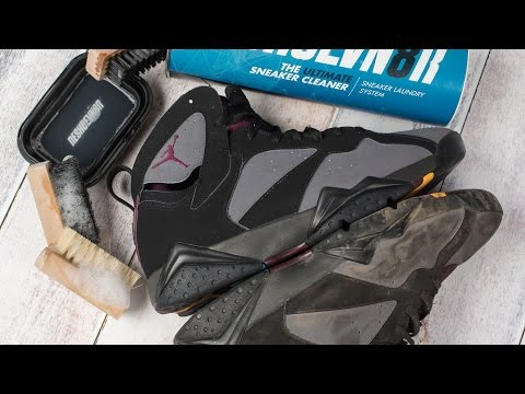 How to clean stained Jordan 7 Bordeaux with Reshoevn8r