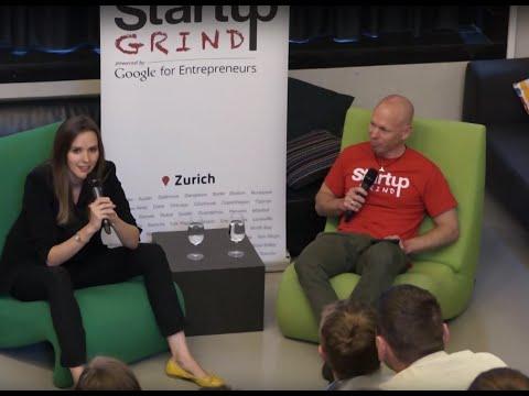 Sunnie J. Groeneveld at Startup Grind Zurich, w/ David Butler
